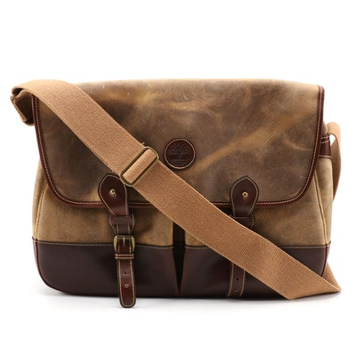 Timberland Leather Messenger Bag