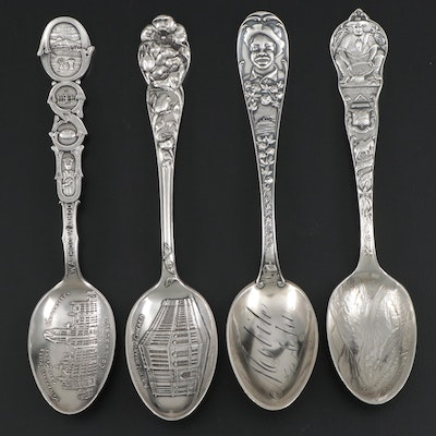 Sterling Silver Souvenir Spoons, Early to Mid-20th Century