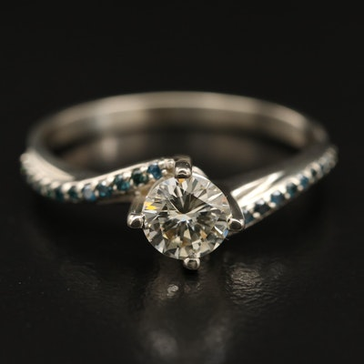 14K Diamond Bypass Ring