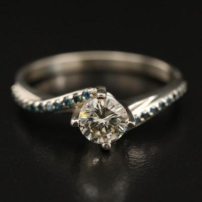 14K Diamond Bypass Ring