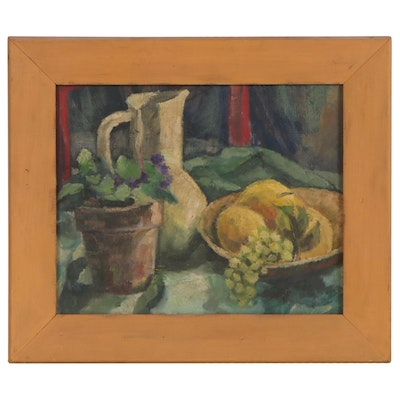 Still Life with Fruit Oil Painting, 1965