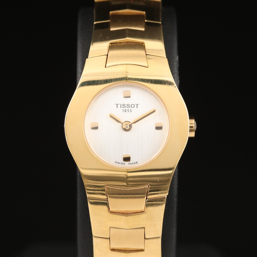 Tissot T- Round Gold PVD Stainless Steel Quartz Wristwatch