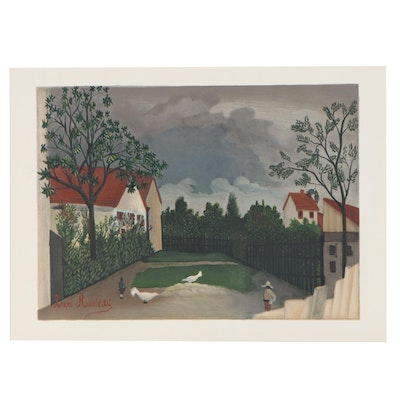 "Color Lithograph after Henri Rousseau for ""Derrière le Miroir,"" 1962"