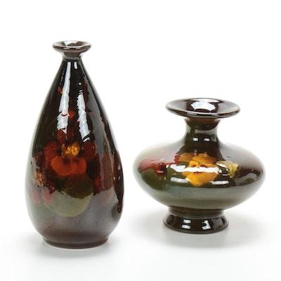 """Weller Pottery """"Louwelsa"""" Vases"""
