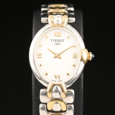 Tissot Two Tone Stainless Steel and Mother of Pearl Dial Quartz Wristwatch