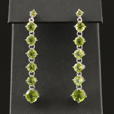 Sterling Peridot Drop Earrings