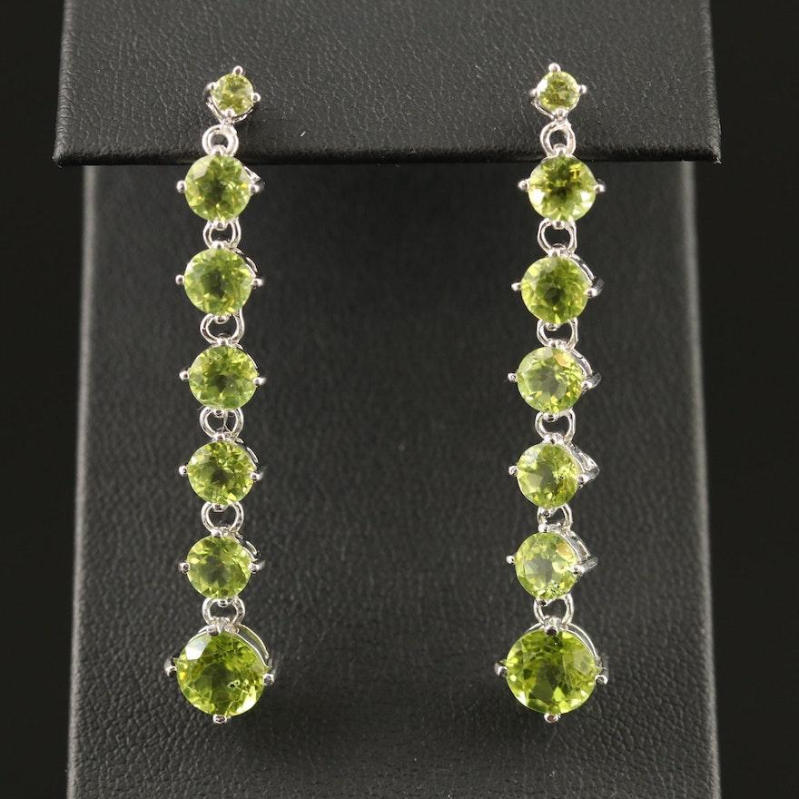 Sterling Peridot Drop Earrings