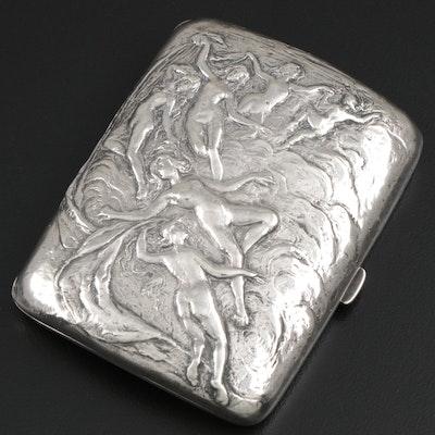 Gorham Sterling Silver Art Nouveau Cigarette Case, 1900