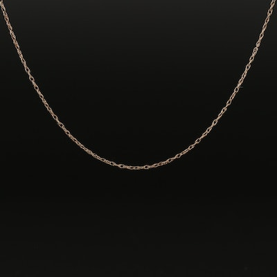 10K Chain Singapore Chain Necklace