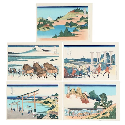 "Woodblocks after Katsushika Hokusai from ""Thirty-Six Views of Mount Fuji"""