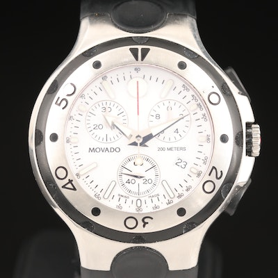 Movado Series 800 Chronograph Stainless Steel Quartz Wristwatch