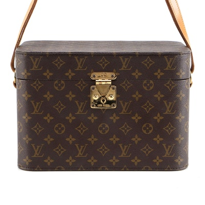 Louis Vuitton Travel/Vanity Trunk in Monogram Canvas and Leather Trim