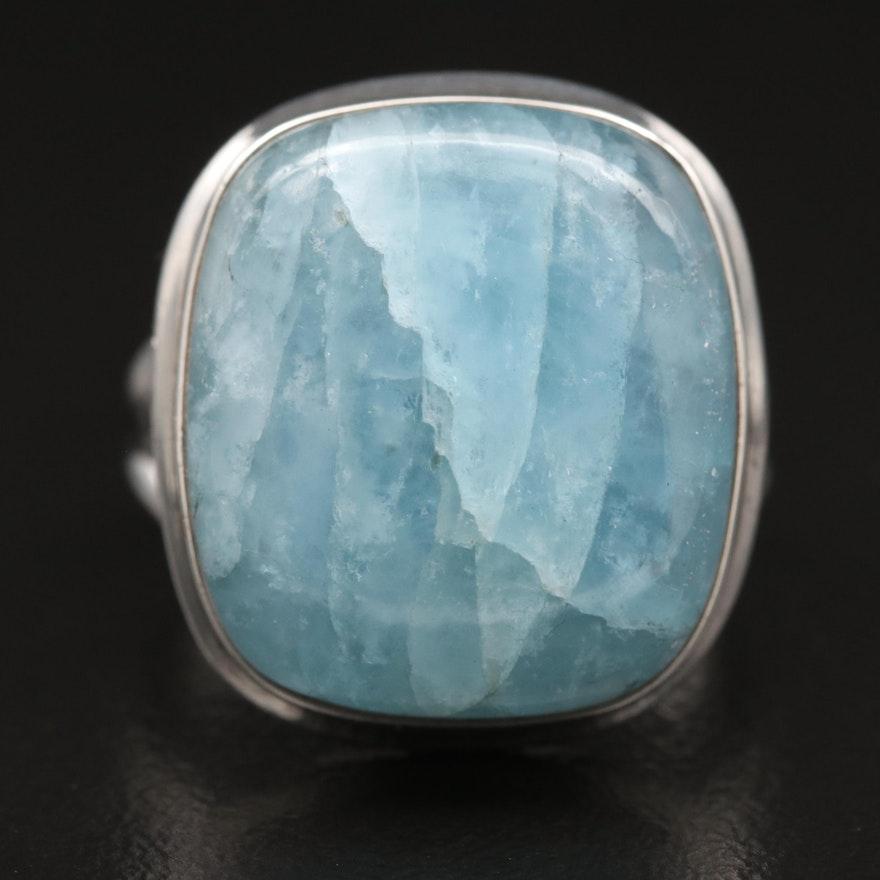 Sterling Silver Beryl Ring