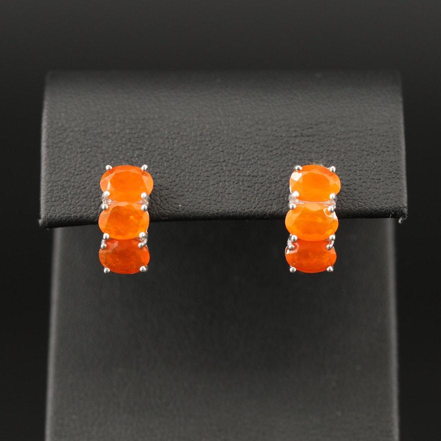 Sterling Opal Drop Earrings