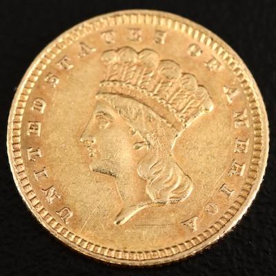 1884 Indian Princess Head Type III Gold Dollar
