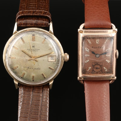 Vintage Gold Filled Bulova and Hamilton Wristwatches