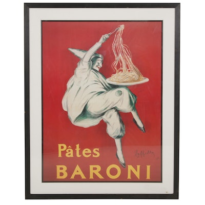 "Offset Lithograph after Leonetto Cappiello ""Pâtes Baroni"" Poster"