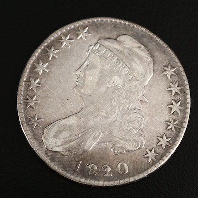 1820 over 19 Capped Bust Silver Half Dollar