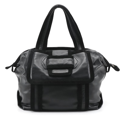 Pierre Hardy Black Suede and Leather Tote Bag