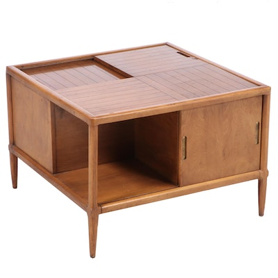 "Tomlinson ""Sophisticate"" Mid Century Modern Pecan Corner Commode"