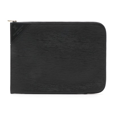 Louis Vuitton Poche Documents Portfolio in Black Epi Leather