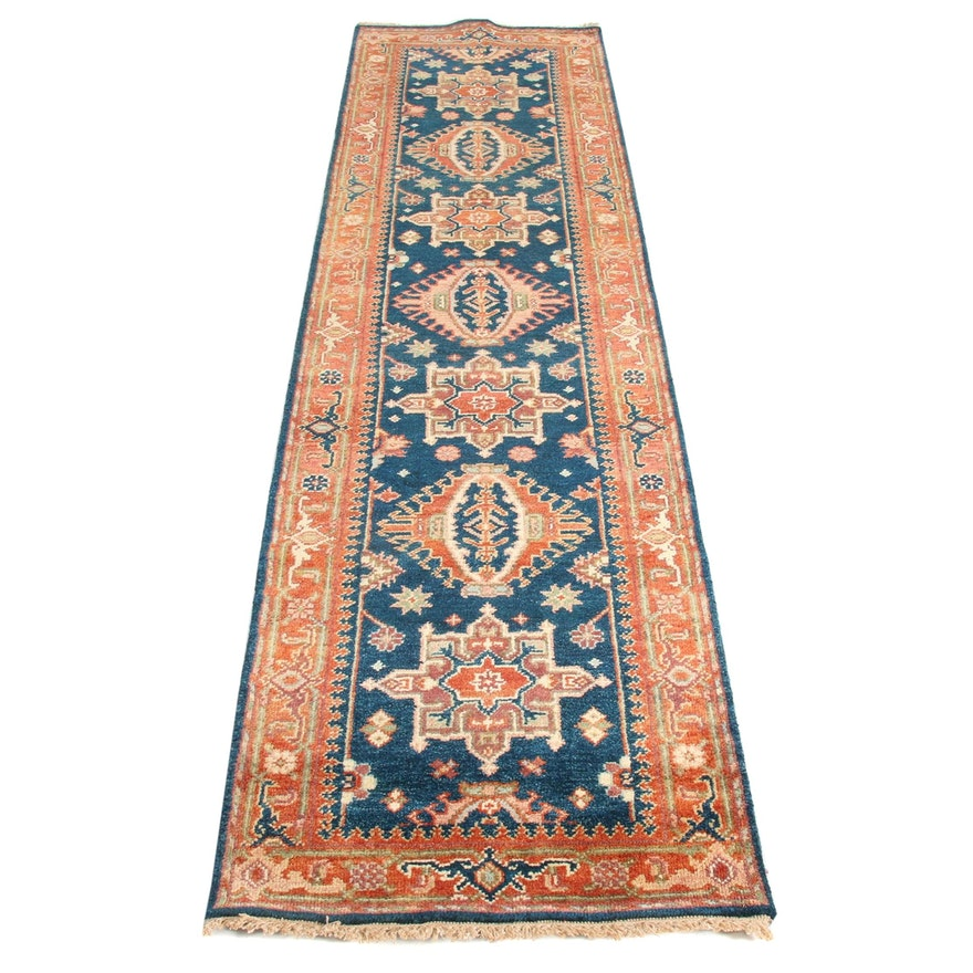 2'6 x 10'1 Hand-Knotted Indo Persian Tabriz Runner, 2010s