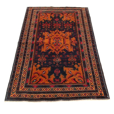 3'3 x 5'11 Hand-Knotted Persian Balouch Rug, 2000s