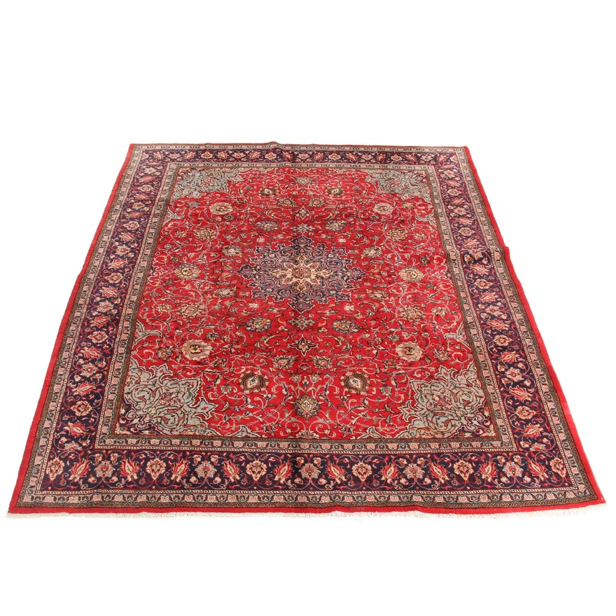 10' x 12'11 Hand-Knotted Persian Sarouk Rug,1970s