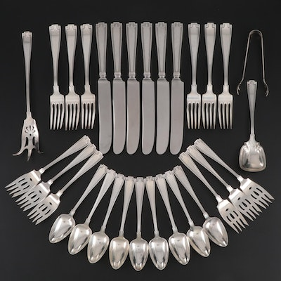 """Gorham """"Etruscan"""" Sterling Silver Flatware, Mid to Late 20th Century"""