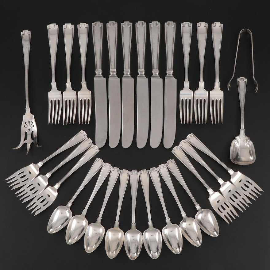"Gorham ""Etruscan"" Sterling Silver Flatware, Mid to Late 20th Century"
