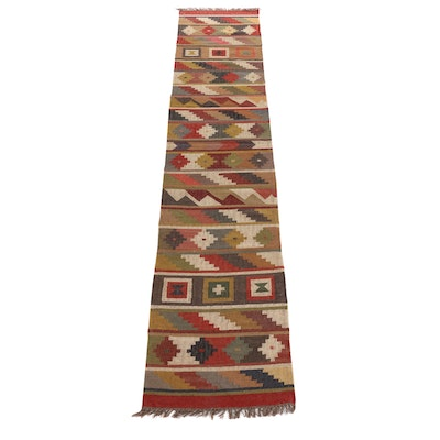 2'7 x 12'6 Handwoven Turkish Kilim Runner Rug