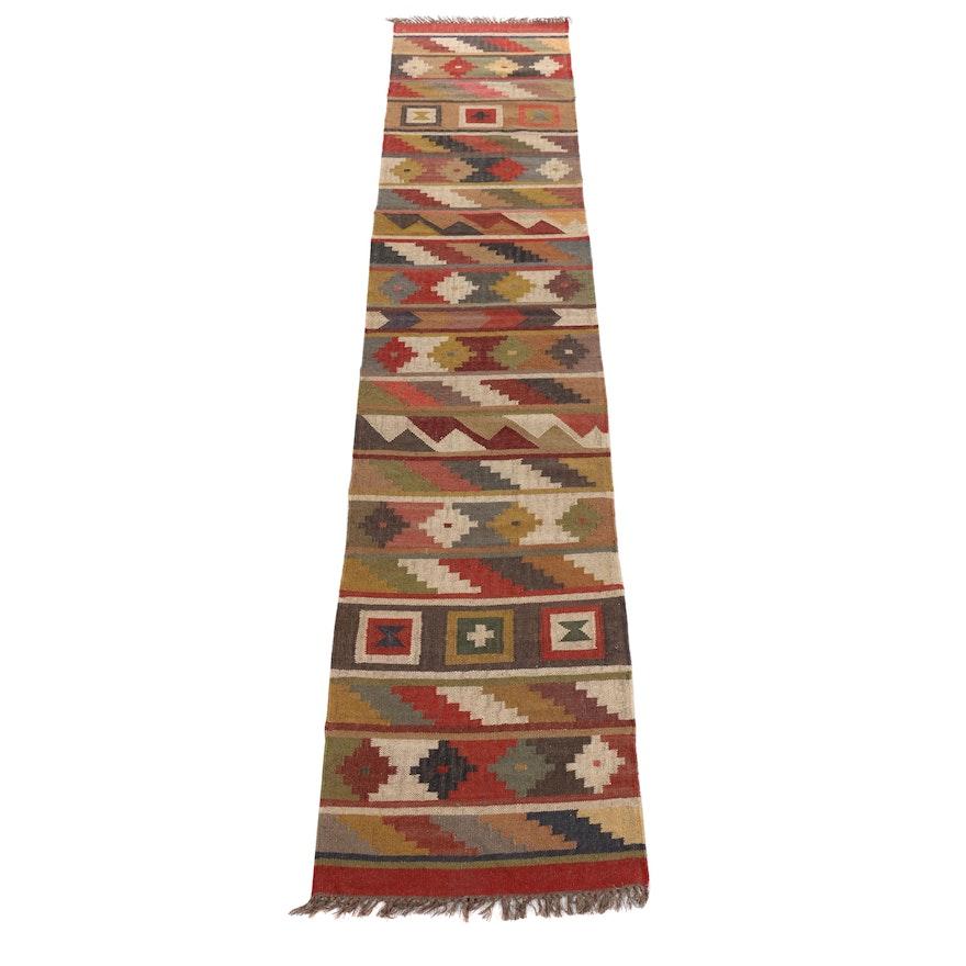 2'7 x 12'6 Handwoven Turkish Kilim Runner Rug