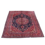 9'7 x 12'5 Hand-Knotted Persian Mashad Rug, 1970s