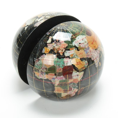 Gemstone World Globe Bookends