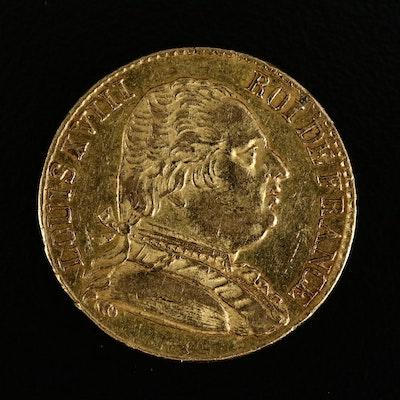 1815 France 20-Franc Gold Coin
