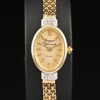 Jacques Prevard 14K and Diamonds Quartz Wristwatch