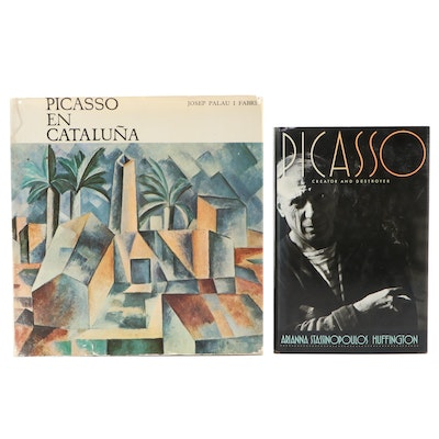 "Signed First Edition ""Picasso"" by Huffington with ""Picasso en Cataluña"""