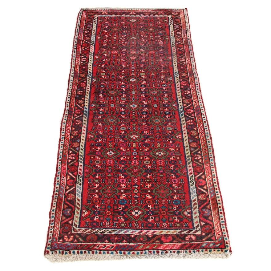 2'5 x 6'3 Hand-Knotted Persian Zantan Runner, 1970s