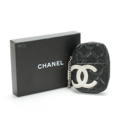 Chanel CC Cigarette Case in Quilted Lambskin Leather