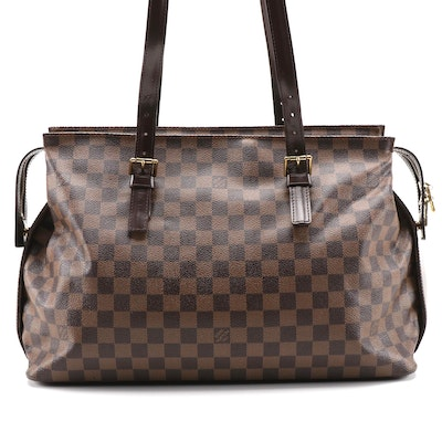 Louis Vuitton Chelsea in Damier Ebene and Smooth Leather