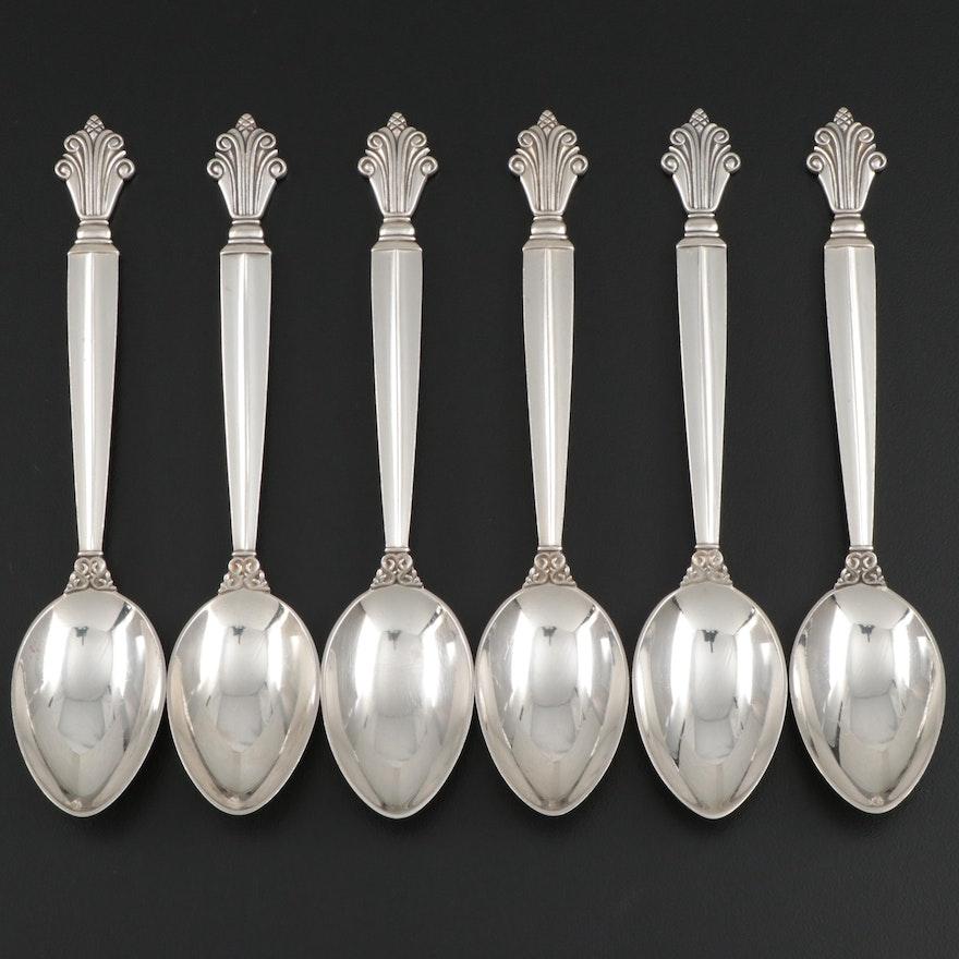 "Georg Jensen ""Acanthus"" Sterling Silver Teaspoons, 1917–2014"