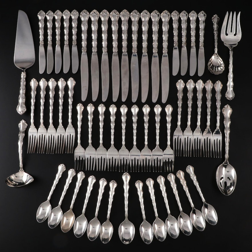 """Reed & Barton """"Tara"""" Sterling Silver Flatware, Mid to Late 20th Century"""
