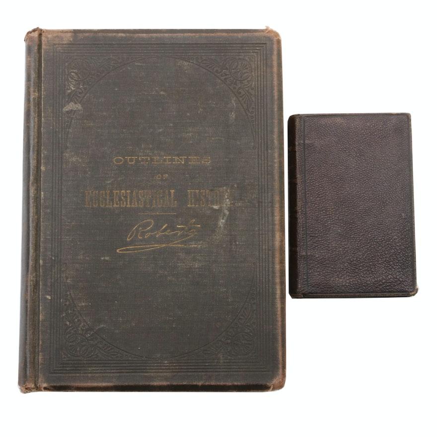 """Outlines of Ecclesiastical History"" and ""Visites au Saint-Sacrement"", 1890s"