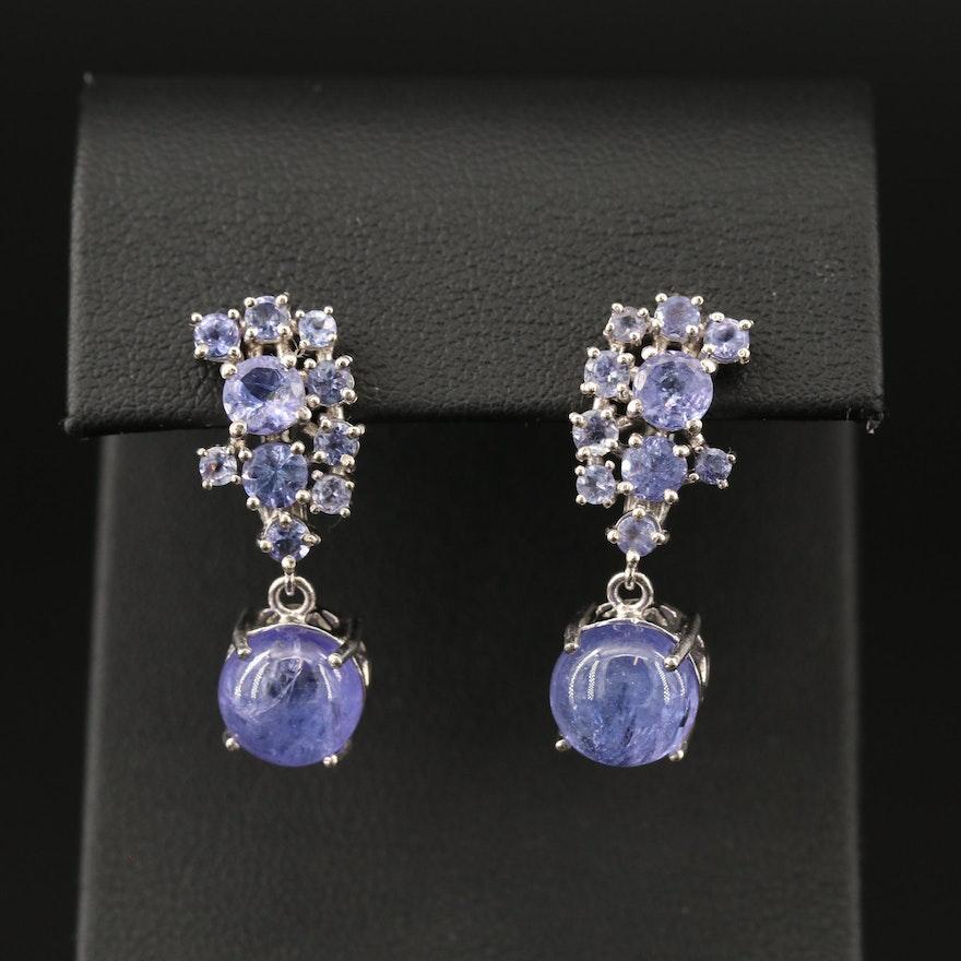 Sterling Tanzanite Dangle Earrings