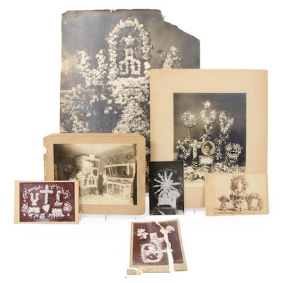 Floral Funerary Display Photographs, Late 19th to Early 20th Century
