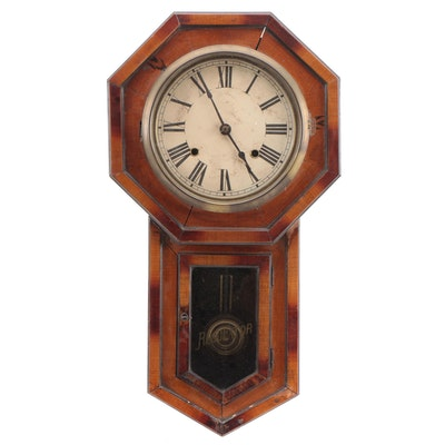 Seikosha Japanese 8 Day Wood Wall Clock, Early 20th Century
