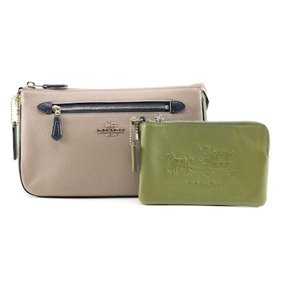 Coach Pebbled Leather Handbag and Wristlet