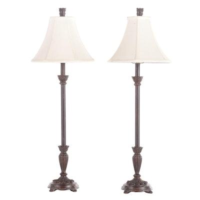 Berman Neoclassical Style Resin Table Lamps