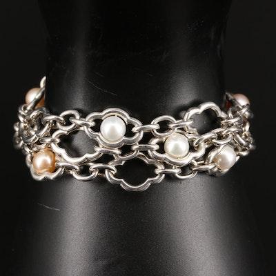 Charles Krypell Pearl Multi-Strand Bracelet