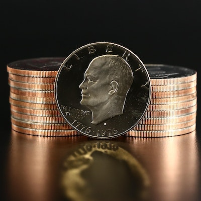 Roll of Twenty 1976-S Proof Clad Bicentennial Eisenhower Dollars